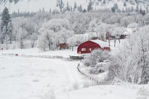 Farm In The Snow by Vladimir Kostka