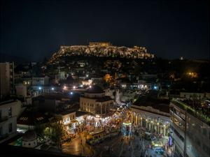 Greece Athens Acropolis Night 1 by Vladimir Kostka