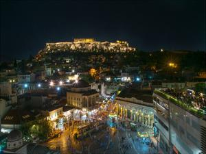 Greece Athens Acropolis Night 2 by Vladimir Kostka