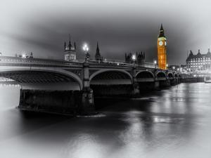 London Selective Bridge and Big Ben by Vladimir Kostka