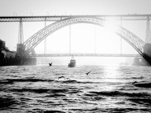 Portugal Porto BW Bridge by Vladimir Kostka