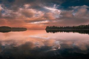 Western Sunset by Vladimir Kostka