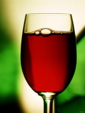 Red Wine in Glass by Vladimir Shulevsky