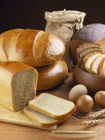 Still Life with Bread, Cereal Ears and Eggs