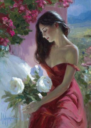 Lady In Red by Vladimir Volegov