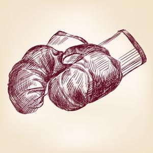 Boxing Gloves Hand Drawing by VladisChern