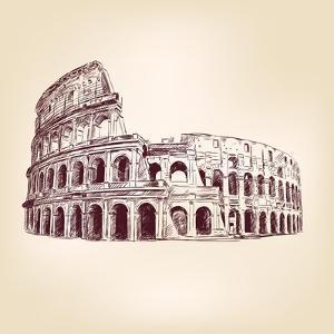 Coliseum  - Hand Drawn by VladisChern
