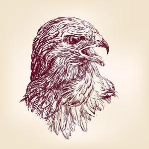 Hawk - Vector Illustration by VladisChern