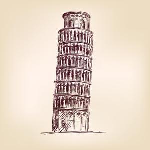 Pisa Tower Vector Illustration by VladisChern