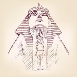 Tutankhamun Egyptian Pharaoh Vector Llustration by VladisChern