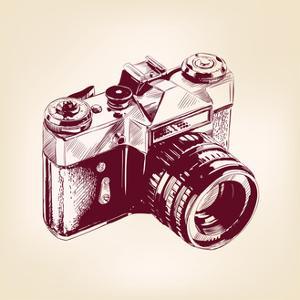 Vintage Old Photo Camera Vector Llustration by VladisChern