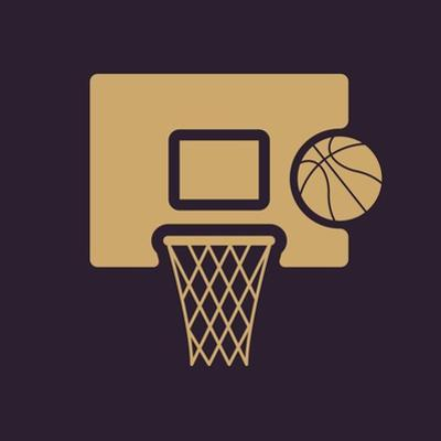 The Basketball Icon. Game Symbol. Flat by Vladislav Markin