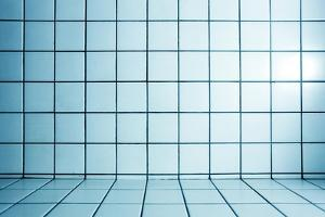 Background of Beautiful Modern Turquoise Luxury Bathroom Interior by Vladitto