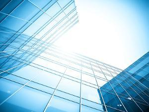 Glass Building Perspective View by Vladitto
