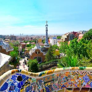 Park-Guell in Barcelona, Spain. by Vladitto
