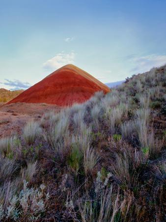 Volcanic cinder cone, Painted Hills Unit, John Day Fossil Beds National Monument, Wheeler County...