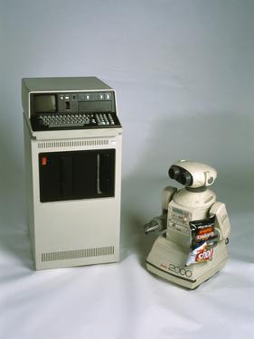 IBM 5110 And Omnibot 2000 Robot by Volker Steger