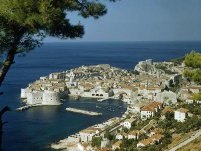 Scenic View of Dubrovnik Harbor and the Adriatic Sea