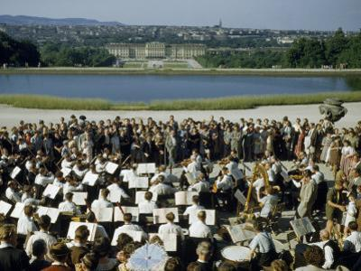 Vienna Symphony Orchestra Performs in Schonbrunn Palace Gardens