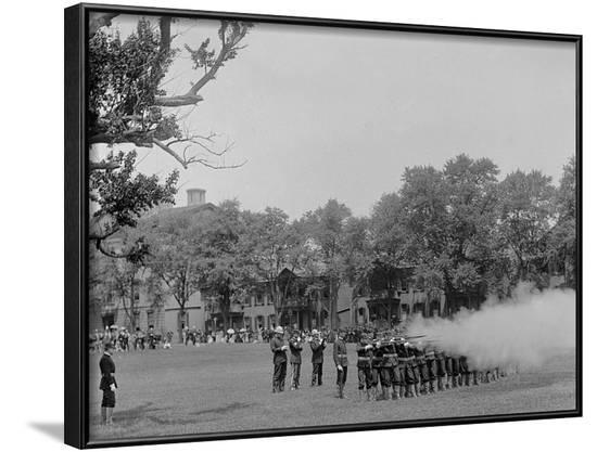 Volley Firing, U.S. Naval Academy--Framed Photo