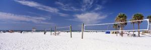 Volleyball Nets on the Beach, Siesta Beach, Siesta Key, Florida, USA