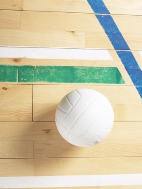 Volleyball on Gymnasium Floor