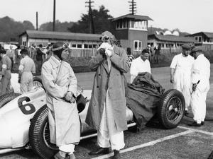 Von Brauchitsch with a 3 Litre Mercedes Benz at the Donington Grand Prix, 1938