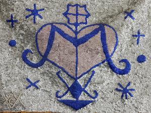 Voodoo Pearl Flag, Port-Au-Prince, Haiti, West Indies, Central America
