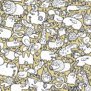 Animals and Objects Seamless Pattern by vook