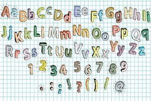 Doodled Grunge Alphabet by vook