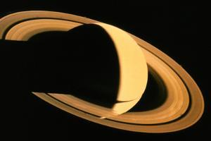 Voyager 1 Photograph of Saturn & Its Ring System