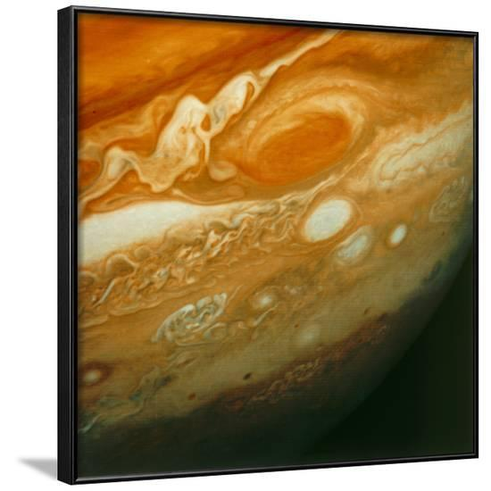 Voyager 1 View of Jupiter's Great Red Spot--Framed Photographic Print