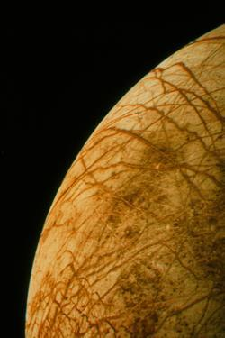Voyager 2 Photo of Europa, One of Jupiter's Moons