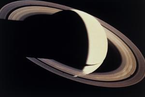 Voyager Photo of Saturn And Its Rings