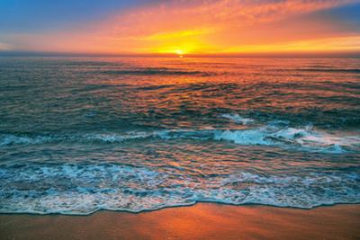 Beautiful Cloudscape over the Sea, Sunrise Shot. by vrstudio