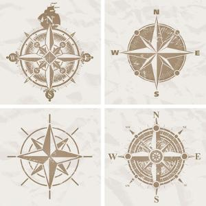 Vintage Compass Roses by vso