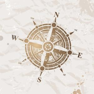 Vintage Paper With Compass Rose by vso
