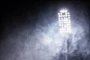 Stadium Lights and Smoke by vverve