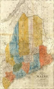 Map of Maine, c.1843 by W^ Anson