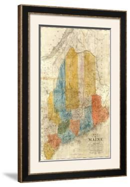 Map of Maine, c.1843 by W. Anson