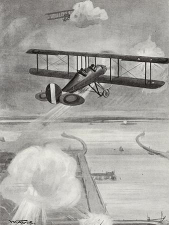 Squadron-Leader Richard Davies and Flight-Lieutenant Richard Peirse Dropping Bombs