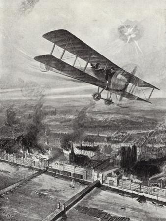 Squadron Leader Spenser Grey Flying over Cologne, 8 October 1914
