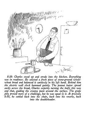 Man making sandwich. - New Yorker Cartoon by W.B. Park