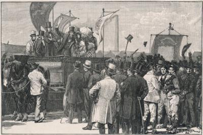 The Chartist Demonstration: The Meeting on Kennington Common London