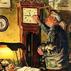 """""""Father and Time,""""March 1, 1946 by W.C. Griffith"""