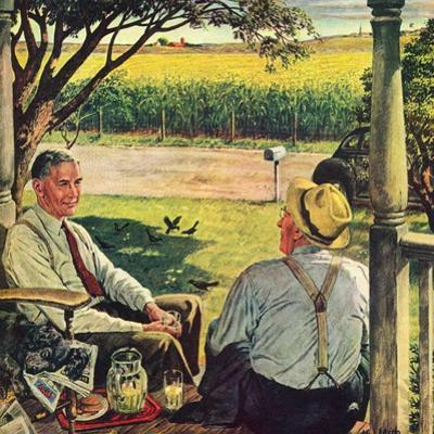 """""""Summer on the Farmhouse Porch,""""August 1, 1947 by W.C. Griffith"""