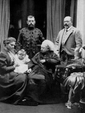 Russian and British Royal Families at Balmoral, Scotland, 29th September 1896 by W&d Downey