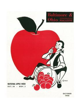 National Apple Week 1948 by W.D.P.