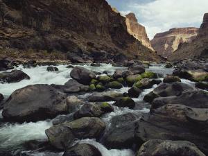 Colorado River Flows over a Rocky Streambed by W. E. Garrett