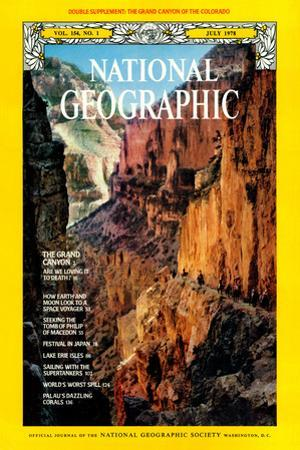 Cover of the July, 1978 National Geographic Magazine by W.E. Garrett